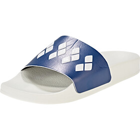 arena Team Stripe Slide Sandalias, white-navy-white